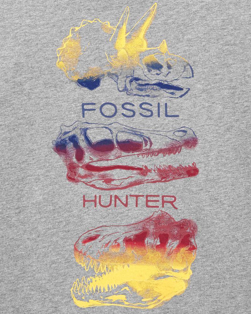 T-shirt en jersey à crâne de dinosaure, , hi-res