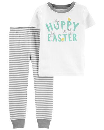 Pyjamas 2 pièces en coton ajusté po...