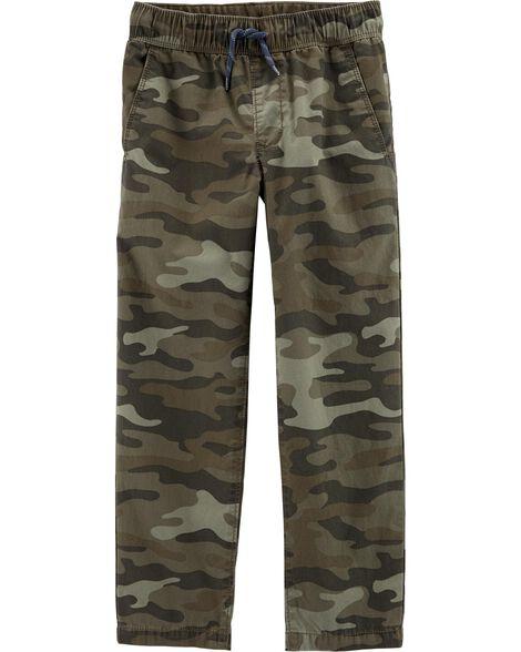 Pantalon de tous les jours à enfiler motif camouflage