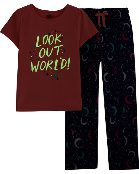 2-Piece Glow-in-the-Dark Space PJs
