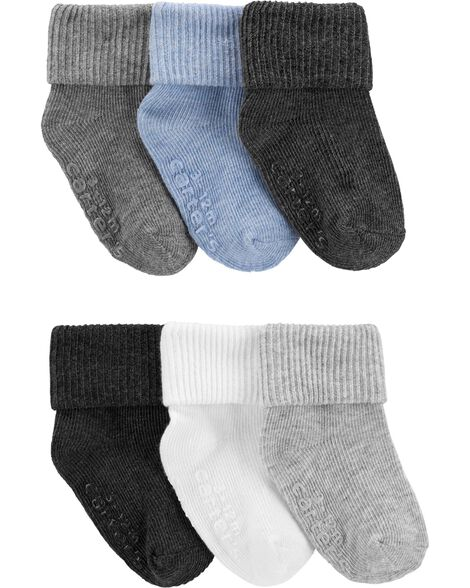 6-Pack Foldover Cuff Socks