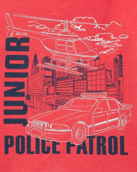 T-shirt en jersey flammé Junior Police Patrol
