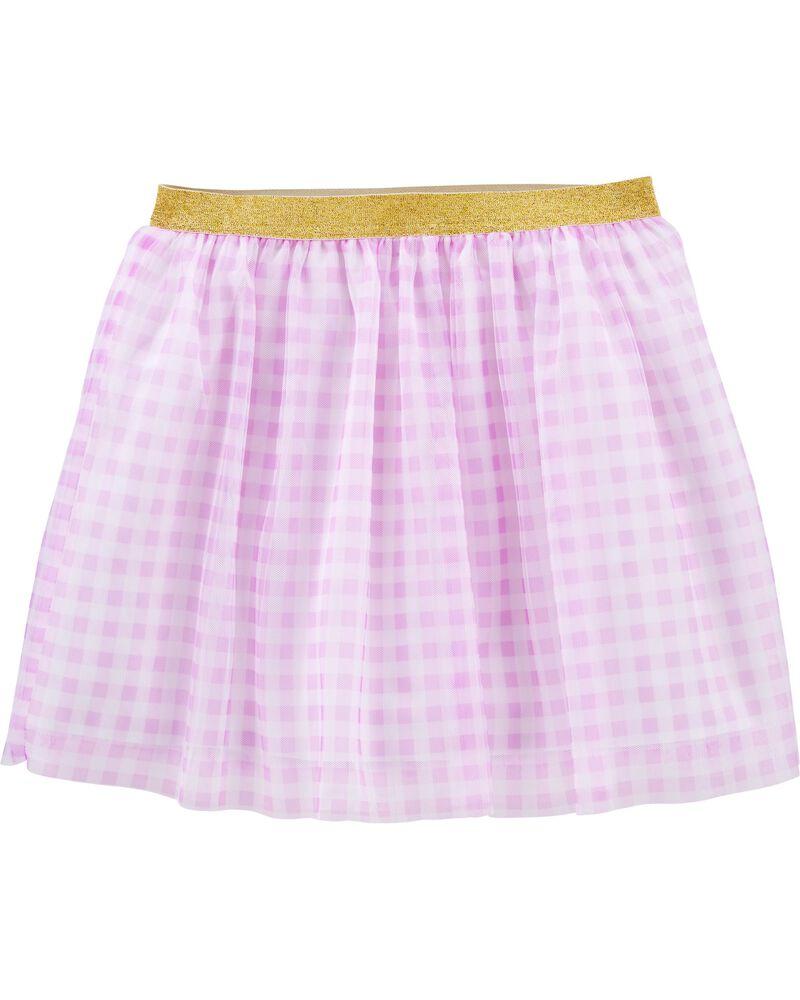 Glitter Gingham Tutu Skirt, , hi-res