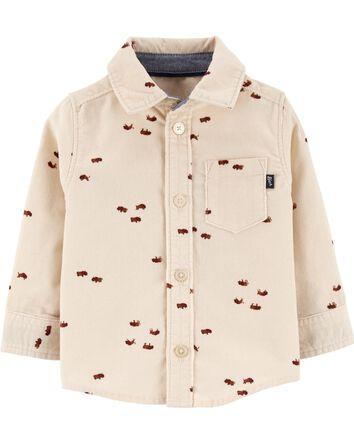 Chemise boutonnée en velours côtelé...