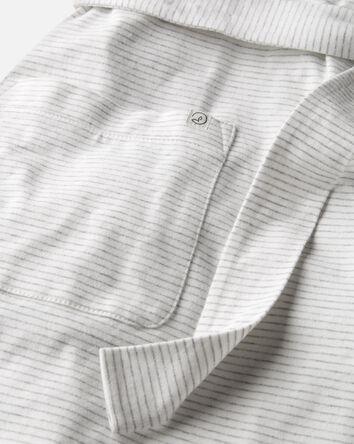 Adult Organic Cotton Rib Robe