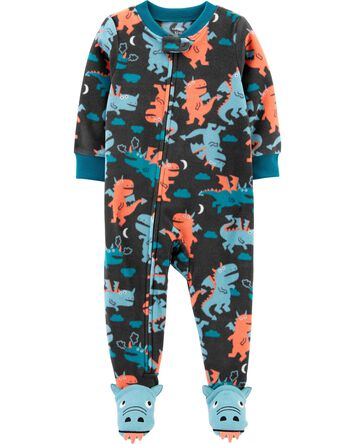 1-Piece Dragon Fleece Footie PJs