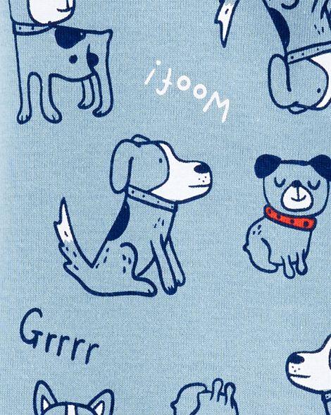 1-Piece Dog Snug Fit Cotton Footie PJs