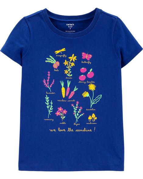 T-shirt en jersey fleuri