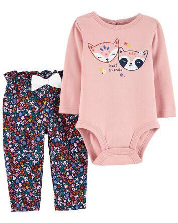 2-Piece Fox Bodysuit Pant Set