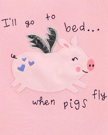 4-Piece Pig 100% Snug Fit Cotton PJ...