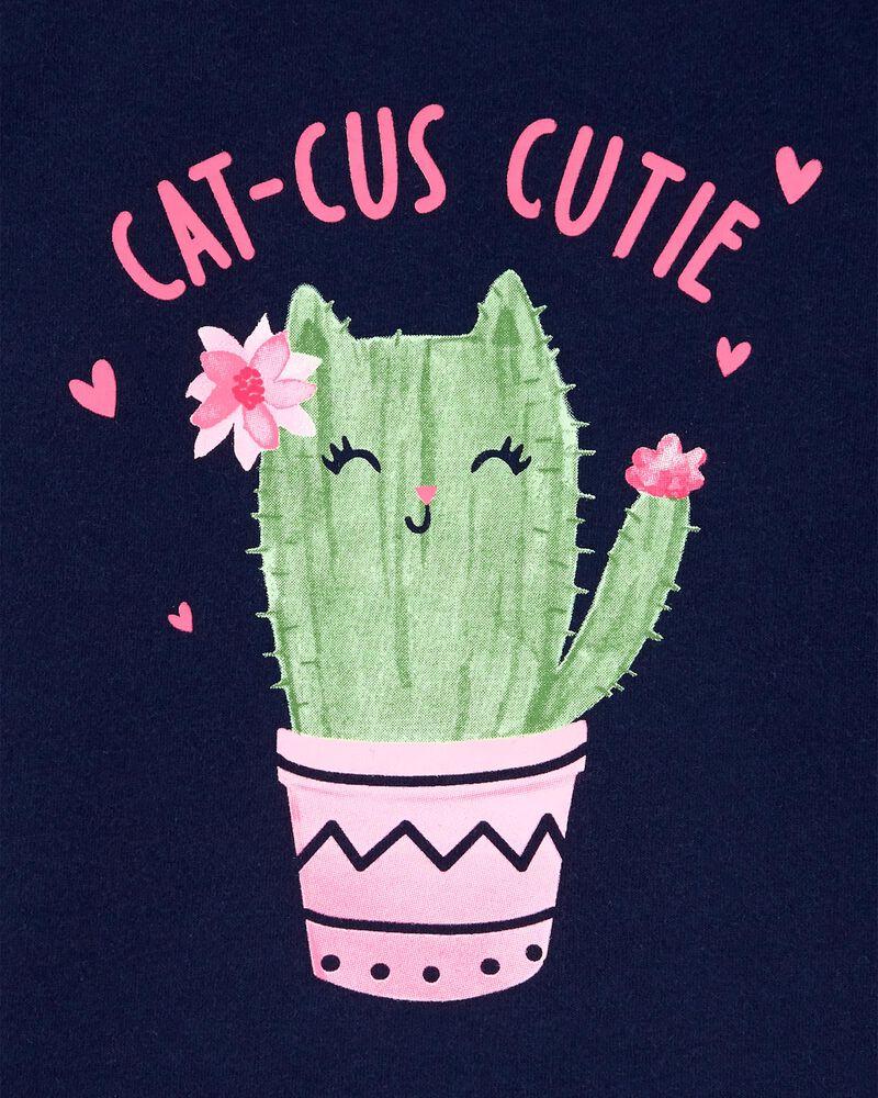 T-shirt en jersey à motif de cactus, , hi-res