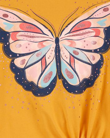 Butterfly Tie-Front Jersey Tee