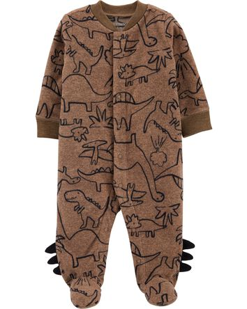 Dinosaur Snap-Up Fleece Sleep & Pla...