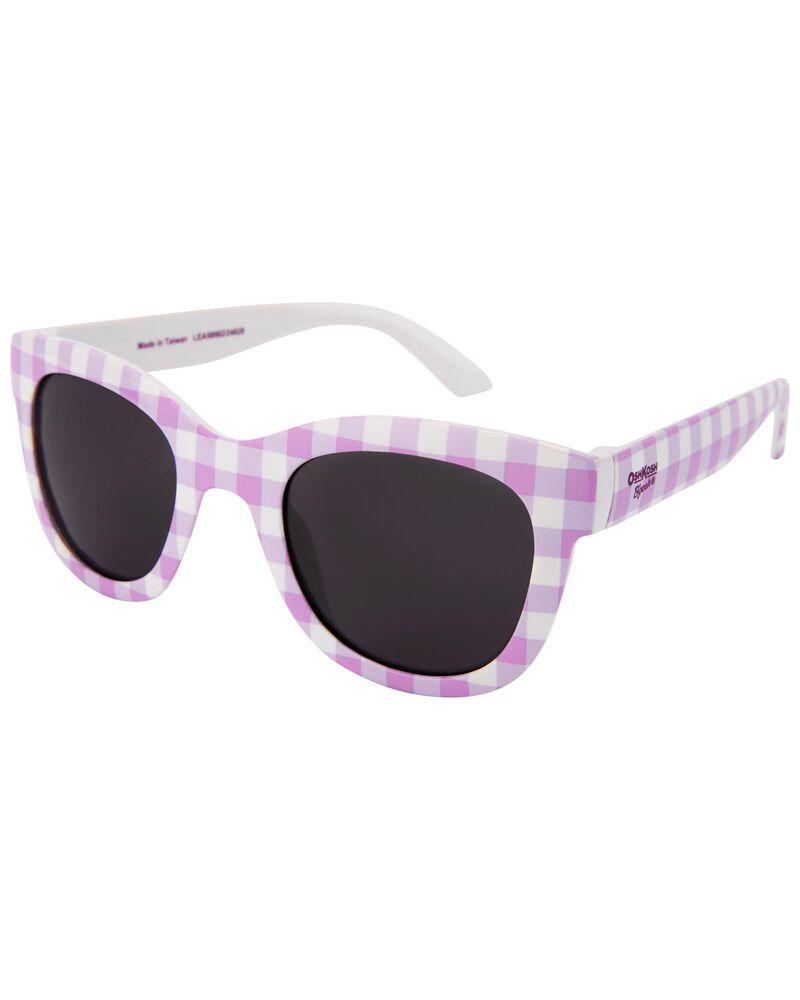 Pink Gingham Sunglasses, , hi-res