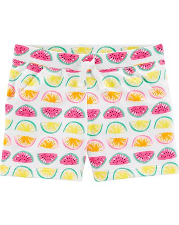 Fruit Pull-On French Terry Shorts