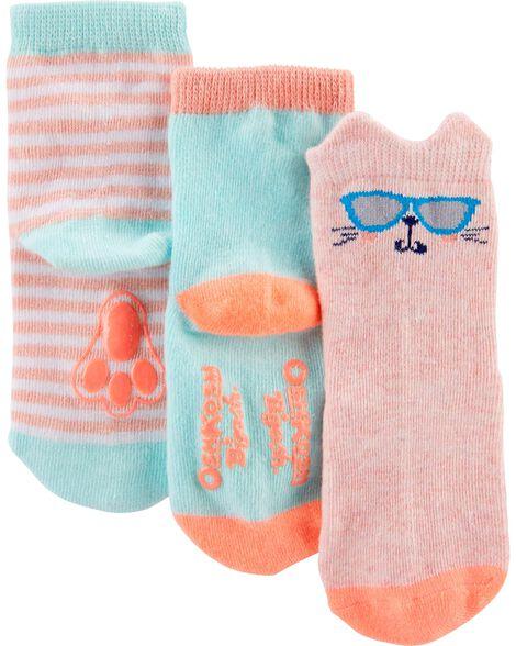 3 paires de chaussettes mi-mollet à lapin