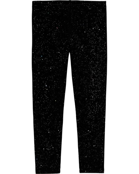 Legging scintillant galaxie