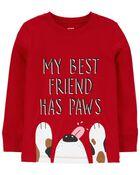 T-shirt en jersey à slogan Dog Best Friend, , hi-res