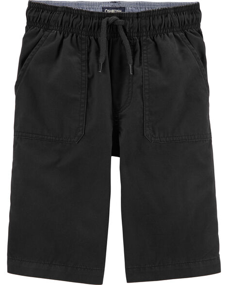 Pull-On Twill Shorts