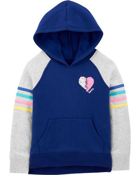 Flip Sequin Heart Hoodie