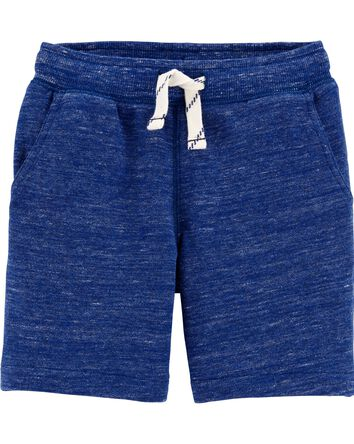 Marled Pull-On French Terry Shorts