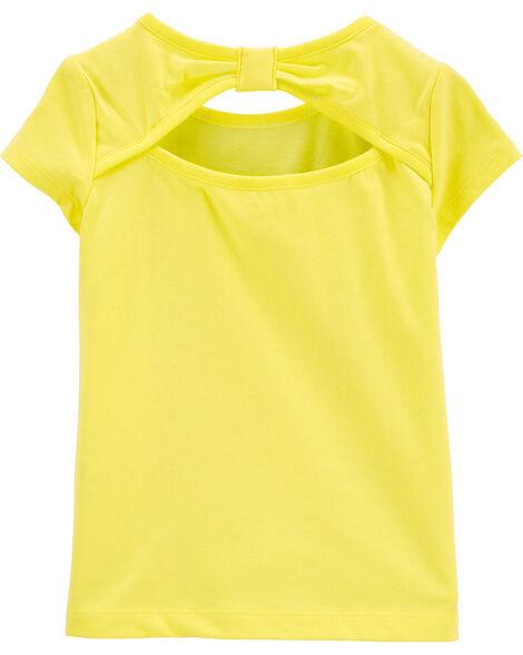 T-shirt en jersey à nœud derrière et coccinelles