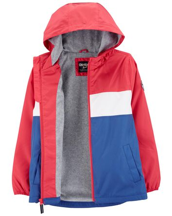 Colourblock Fleece-Lined Windbreake...