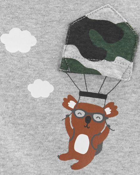 Ensemble 2 pièces cache-couche camouflage à koala et pantalon