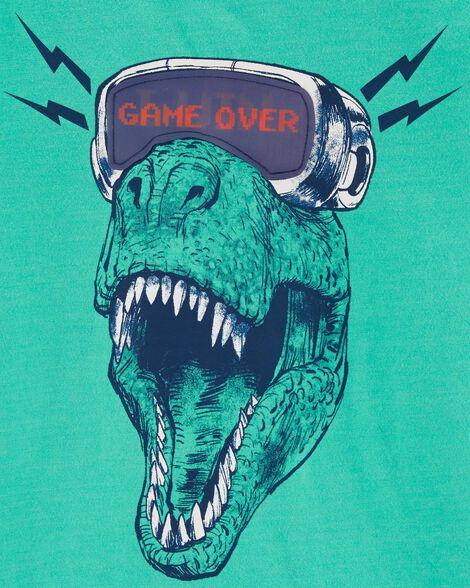 T-shirt chiné à dinosaure en réalité virtuelle