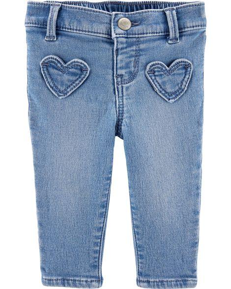 Jegging à poches en forme de cœur