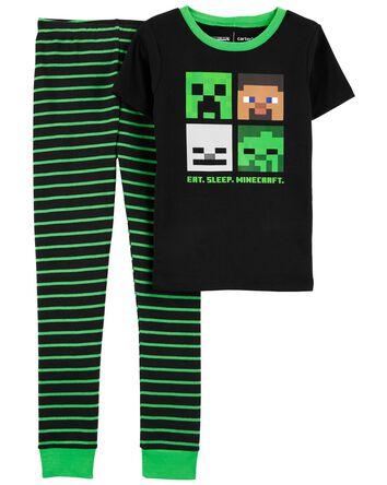 Pyjama 2 pièces en coton ajusté