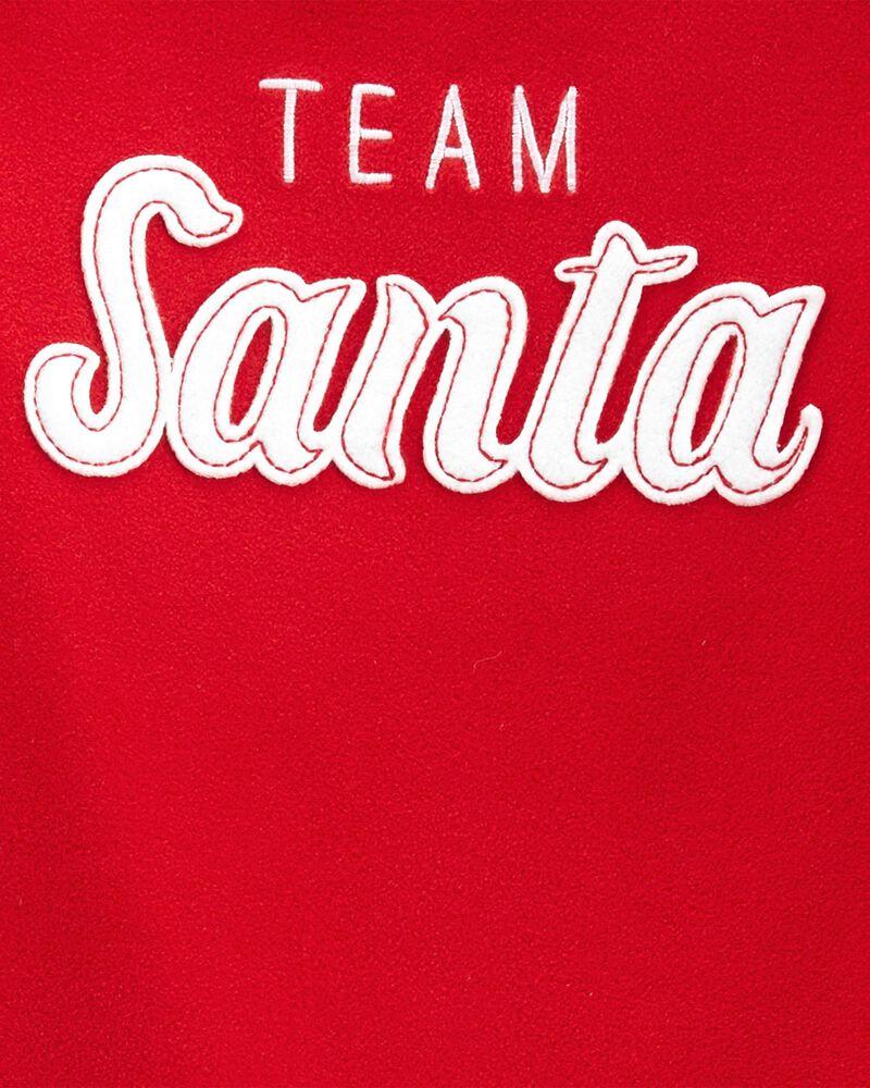 Pyjamas 2 pièces en coton et en molleton Père Noël, , hi-res