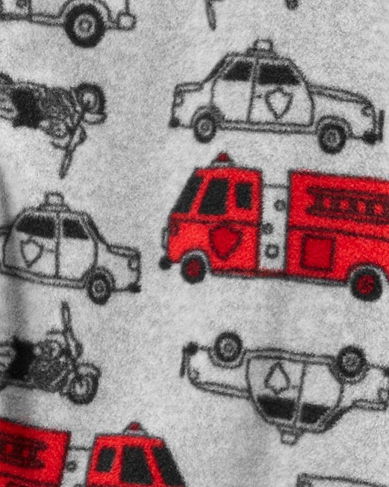Pyjama 1 pièce en molleton sans pieds véhicule de héros, , hi-res