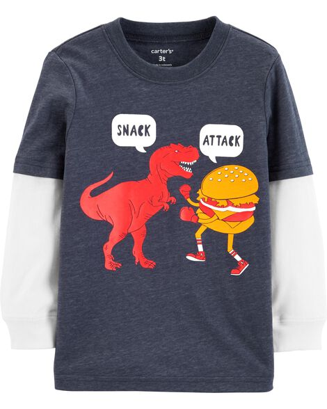 Snack Attack Layered-Look Tee