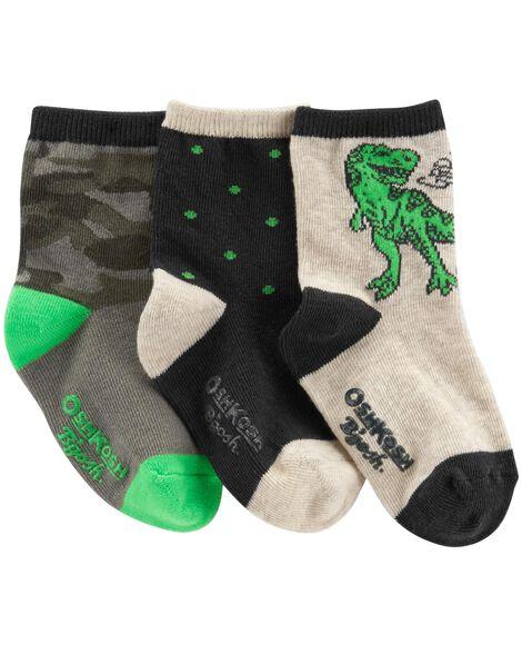 3-Pack Camo Crew Socks