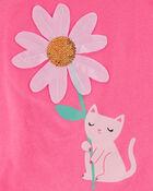 Haut en jersey marguerite et chat, , hi-res