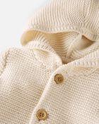Organic Seed Stitch Cardigan, , hi-res