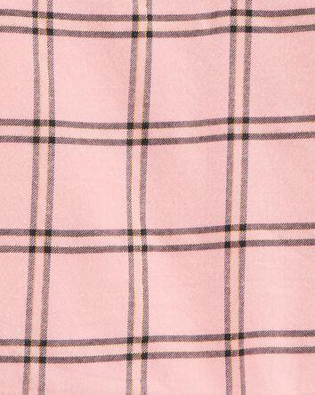 2-Piece Plaid Flannel Top & Legging...
