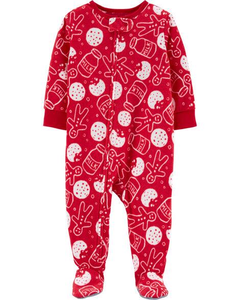 Pyjama 1 pièce en molleton avec biscuit