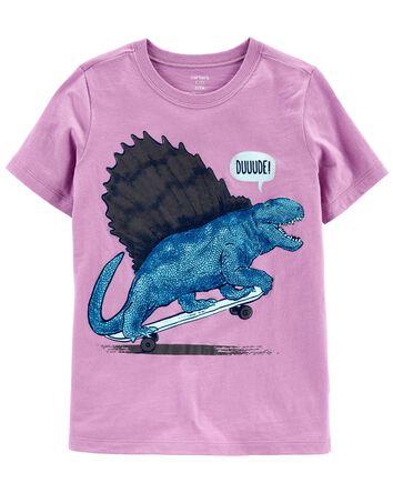 Skateboard Dinosaur Jersey Tee