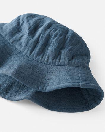 Chapeau cloche en gaze de coton