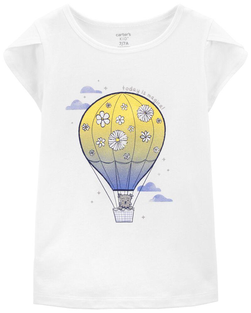 T-shirt en jersey à mongolfière, , hi-res
