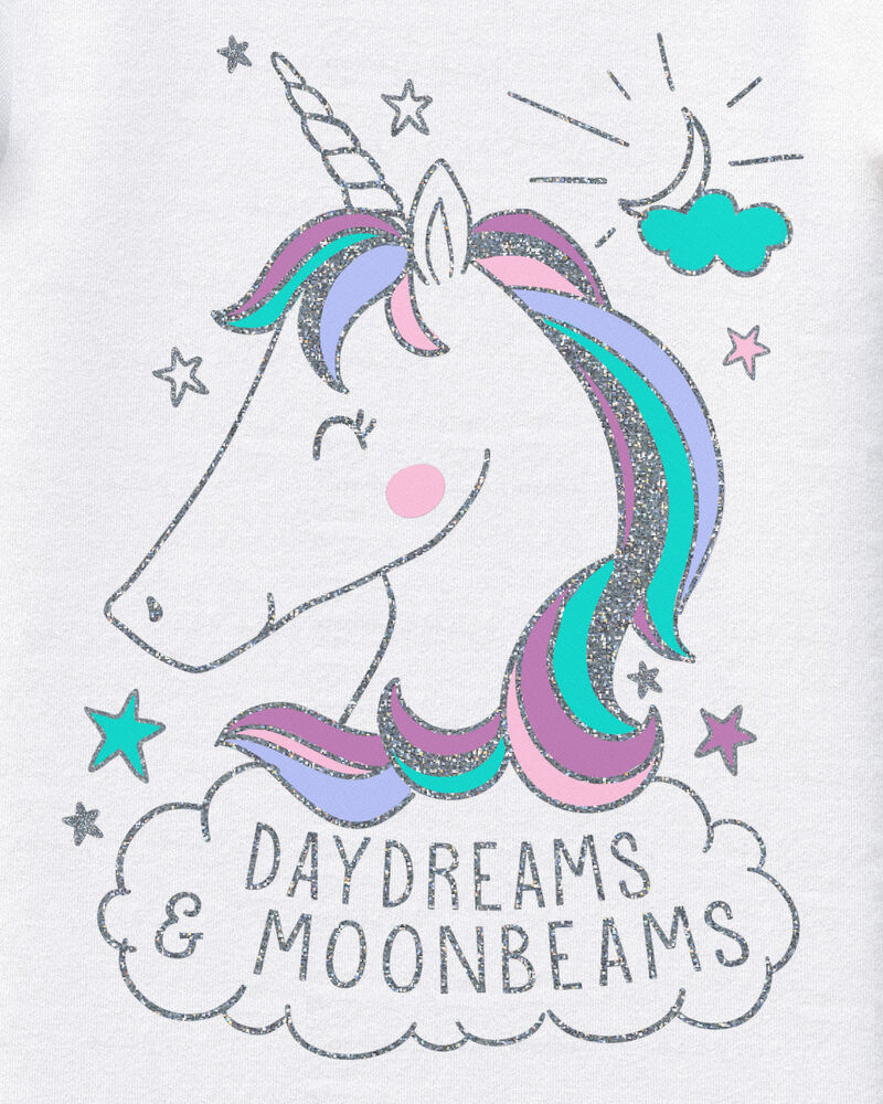 4-Piece Unicorn 100% Snug Fit Cotton PJs, , hi-res