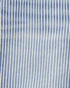 Salopette courte extensible à rayures hickory, , hi-res