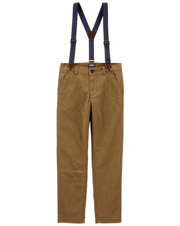 Pantalon en sergé extensible à bret...