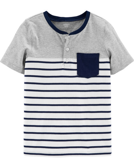 Striped Pocket Henley