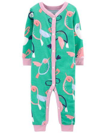 Pyjama 1 pièce à boutons-pression e...