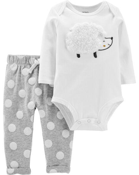2-Piece Hedgehog Bodysuit Pant Set