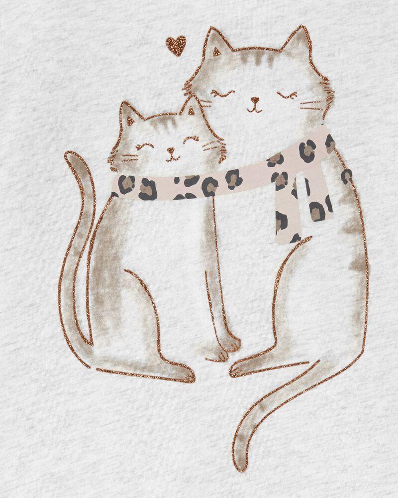 Cat Jersey Top, , hi-res