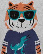 T-shirt en jersey à tigre, , hi-res
